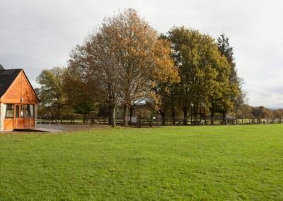 view across to playground